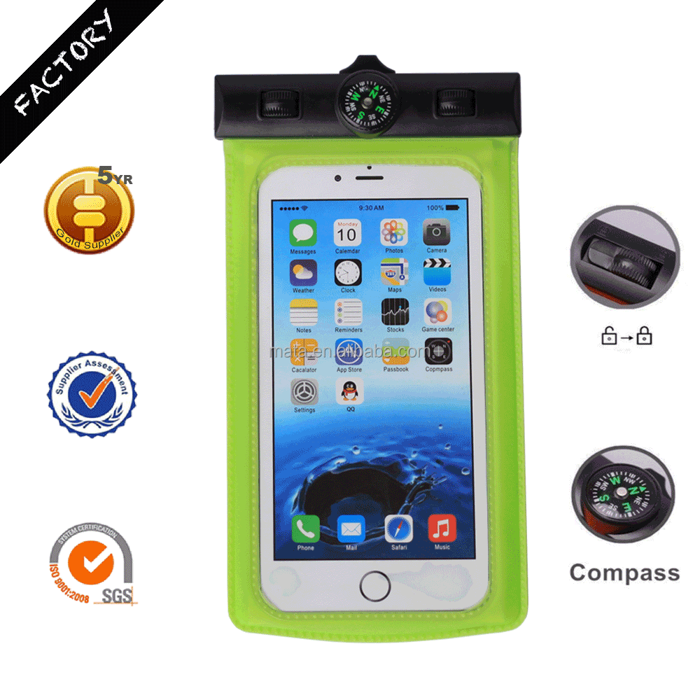 "Hot Sale Waterproof Cell Phone Pouch Holder Cover for iPhone 6/6s with IPX8 (up to 6"" inch)"