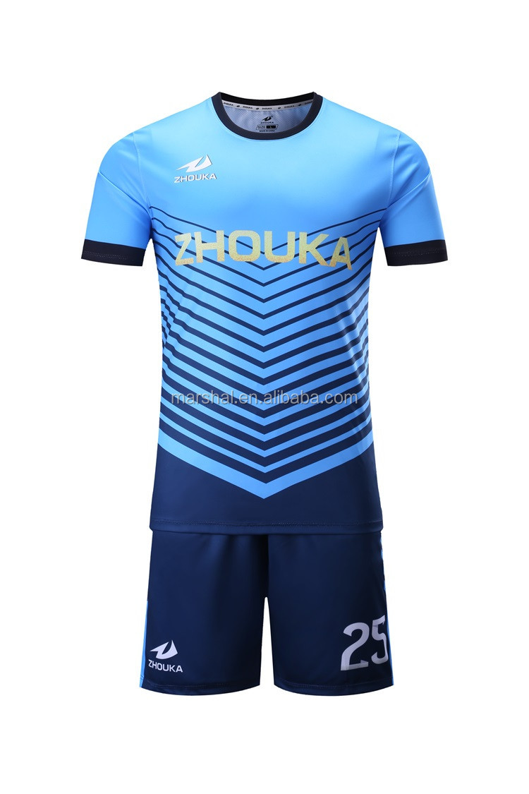 2017 New Fashion Custom Design Soccer Jersey Football