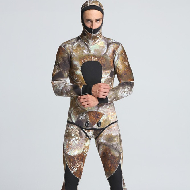 Spearfishing Wetsuit 5MM Neoprene Camouflage Wetsuit Professional Diving Suit Men Wet