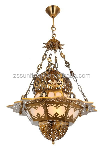 Egyptian Lighting Fixture Handmade Pendant Light With Carving Flower Hanging Lamp Product On