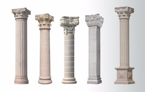 Greek style indoor marble wedding decorative pillars and columns