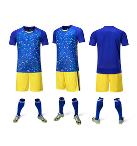 Wholesale New Season Hot Selling Custom Blue/Yellow Soccer Jersey