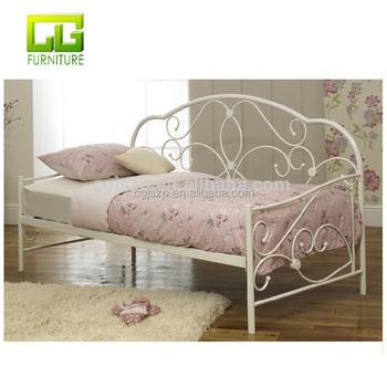 Single Cream Metal Day Bed Frame For Kids To Sale View Metal Frame