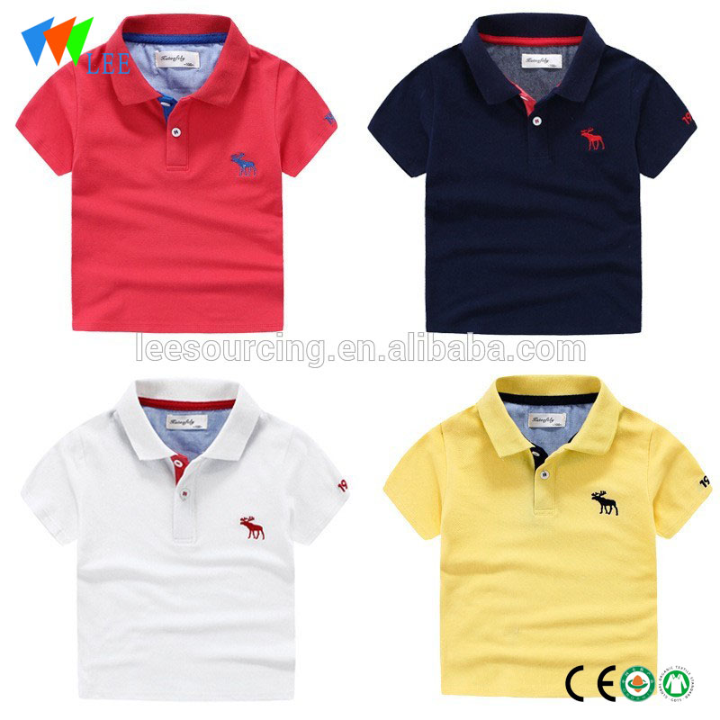 Children Boy 100% Cotton Wear Short Sleeve t shirt Polo Kids wholesale