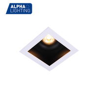 Narrow beam led spot light ip44 led downlight, dimmable square led ceiling light