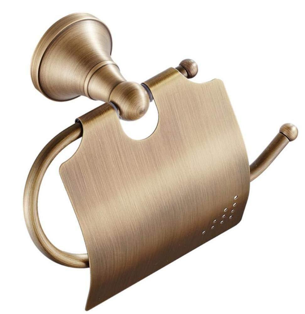 L.I. All Holders of Gold Toilet Paper roll of Wall Fabric Door-Fabric Bronze Accessories of Retro Bathroom Paper Door-Brushed Door-Towels for Home Bathroom Kitchen