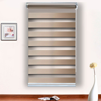 hot selling polyester fabric blackout cassette zebra blinds for home