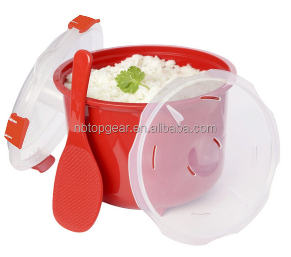 Plastic microwave rice cooker/ rice steamer
