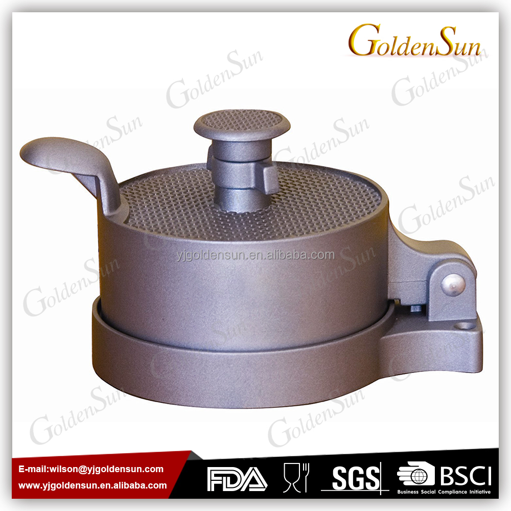 Non Stick Coating Adjustable Hamburger Press With Patty Ejector