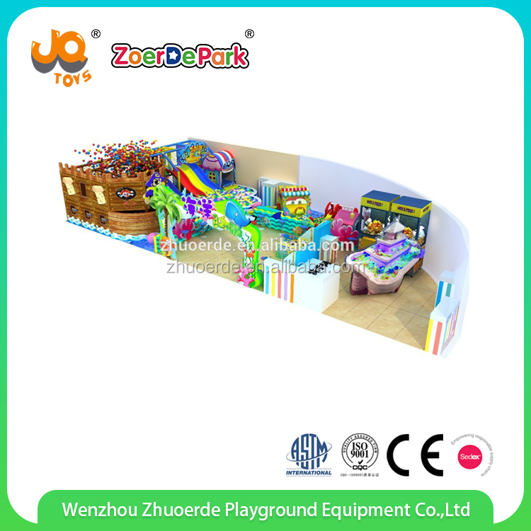 Prize claw and slide ball pool attractive playground indoor with kids wooden playhouse