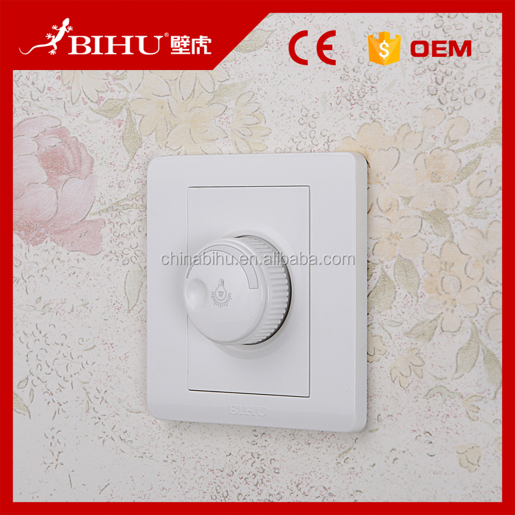 2016 new design South Global Standard PC wall mounted speed dimmer switch for home hotel