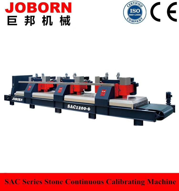 Joborn SAC880 6 head China supplier high efficiency granite marble slab stone calibration machine with factory price