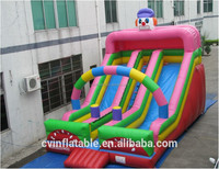 Inflatable clown inflatable slip slide, residential inflatable bouncy slide, children slide for rental