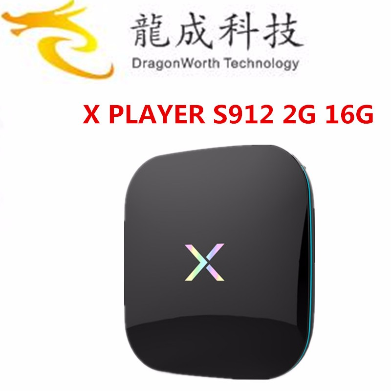 Apoyo OEM/ODM S912 Octa Core Amlogic TV box X palyer con 2G RAM 16G ROM y 1000 M LAN 5G WIFI Android 6.0 smart tv caja