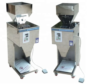 Electric Granule Powder Weighing Filling Machine / Semi Auto Particle Packing Machine