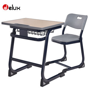 Free sample factory cheap sale school furniture/education furniture/ modern wood top used school desk and chair A1001