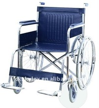 Steel Extra wide steel wheelchair ,fixed armrest and footrest ,pvc seat