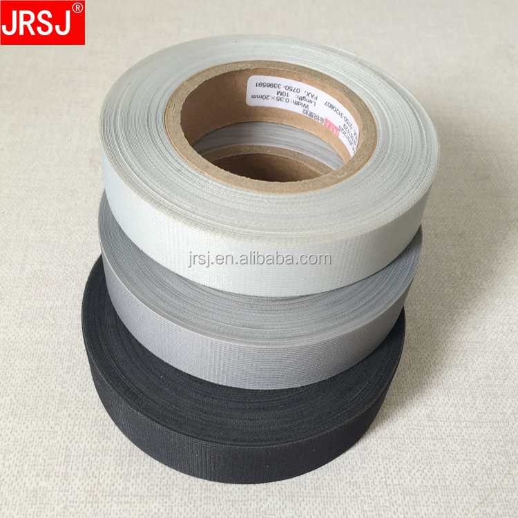 The cheapest soft hot melt 3 layer gray fabric welding tape for 3 layer waterproof fabric