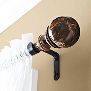 "66-120 Supports Heavier Panels Marble Rod, 3/4"" Rod Diameter, Bronze"