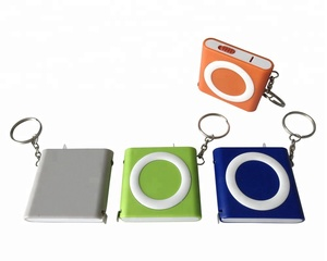 wholesales china goods tape measure key chain ring light with logo