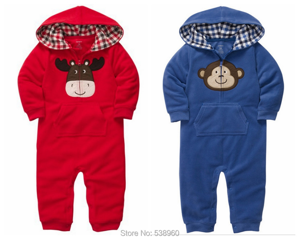 Christmas,Carter,new 2015,spring,fleece clothing,warm,newborn,bebe,baby romper,baby boy clothes,long sleeve baby clothing,