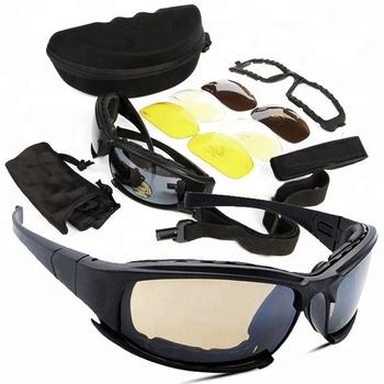 00ebbefd5e79f Tactical Glasses Military Goggles Army Sunglasses With 4 Lens Original Box  Men Shooting Eyewear Gafas