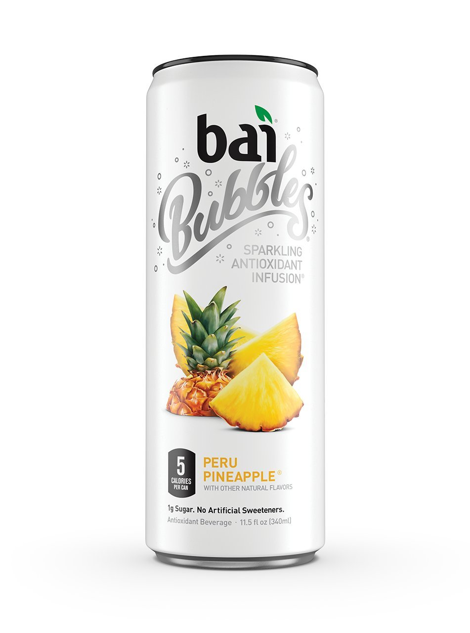 Bai Bubbles, Sparkling Water, Peru Pineapple, Antioxidant Infused Drinks, 11.5 Fluid Ounce Cans, 12 count