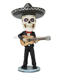 OEM Polyresin Bobblehead Guitar Player Figurine in factory price