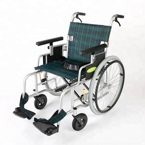 NA-499 Folding Self-propelled Heavy Duty Aluminium Manual Wheelchair with Elevated Armrest