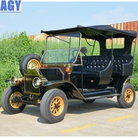 AGY customized 6 person classic tourist car vintage sightseeing vehicle for resort