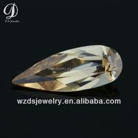 China manufacturer pear shape champagne precious cz stone