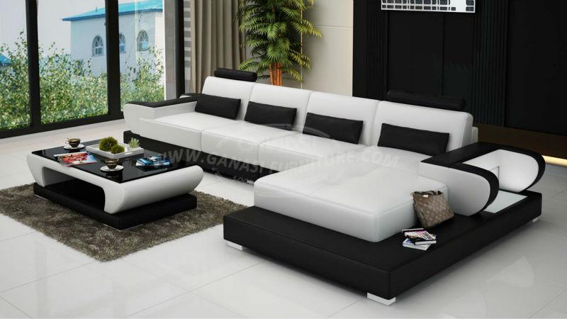 GANASI divano a u,meuble de salon,leather for sofa, View leather for ...