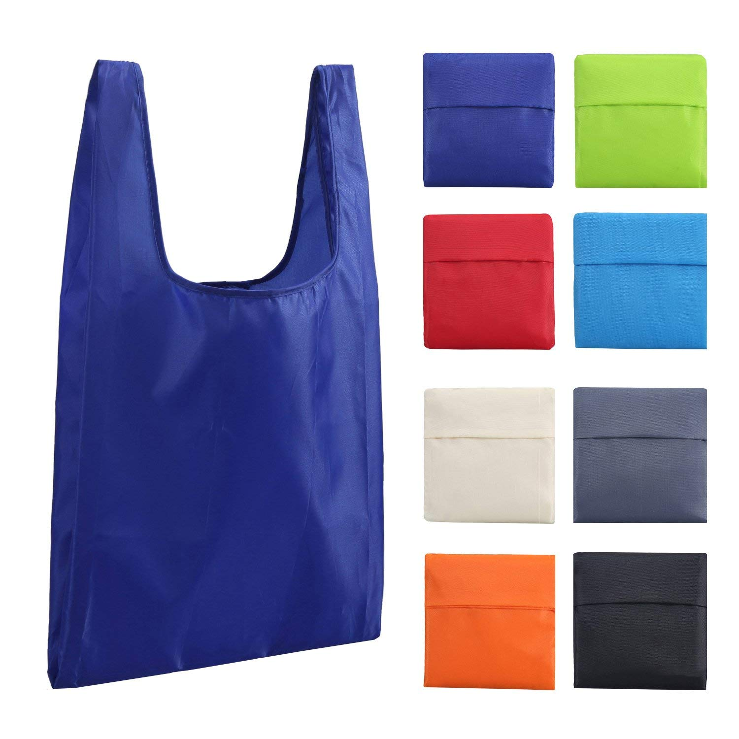 Standard size foldable Good quality eco printing reusable nylon shopping tote bag