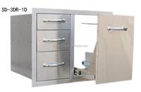 Stainless outdoor kitchen component door cabinet