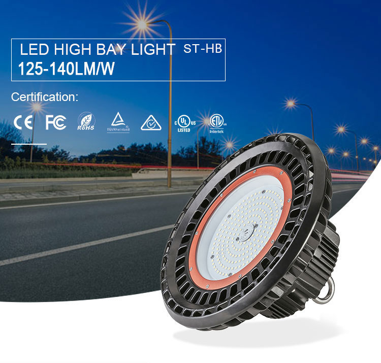 CE RoHS SAA approval Warehouse High Power Ufo 150w 200w 300w Led High Bay Light