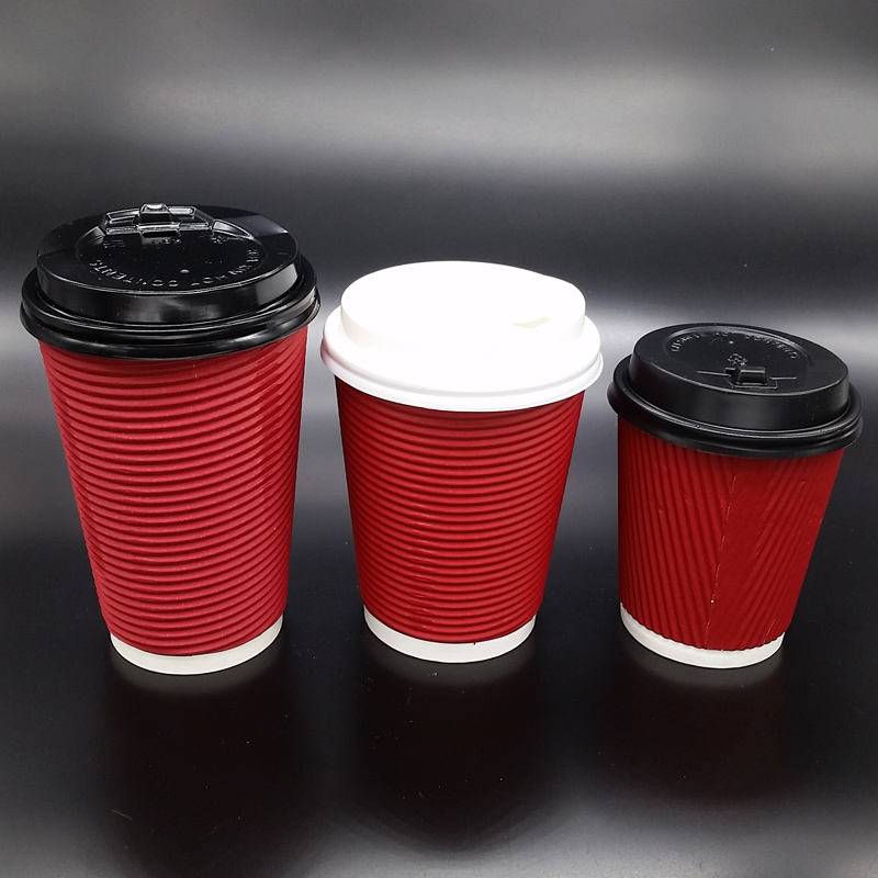 ACP5003 12oz/16oz/20oz disposable hot drink coffee paper cup with lid and sleeve