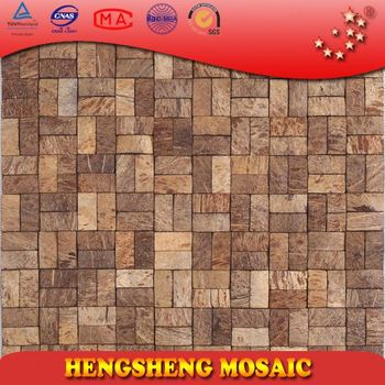 Chinese Foshan Coconut Shell Natural Raw Color Decoration Wall ...