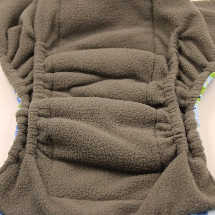 AIO Couche lavable r/éutilisable en tissu charbon de bambou pour la nuit Double soufflet