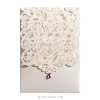 White Laser Wedding Invitation Card Christian Designs
