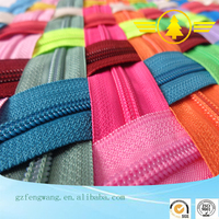 Cheap price wholesale popular fashion long chain nylon zipper in rolls