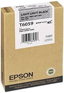 Epson T605900 UltraChrome K3 110ml Light Light Black Cartridge (T605900)