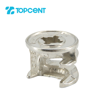 TOPCENT 15mm zinc alloy furniture assembly kd fittings connecting minifix cam