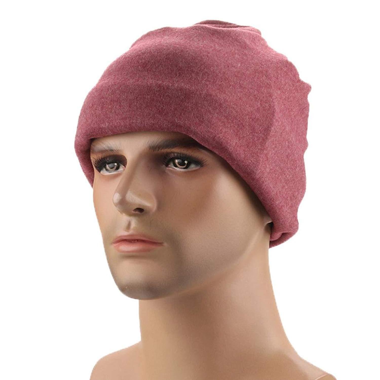 Hunputa Mens Hat Winter, Knit Hat, Men's/Women's Winter Knit Baggy Beanie Hat Ski Slouchy Caps Scarf