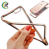 Good quality electroplating tpu cover+pc case hybrid shell for iPhone 7 cell phone electroplating protective covers