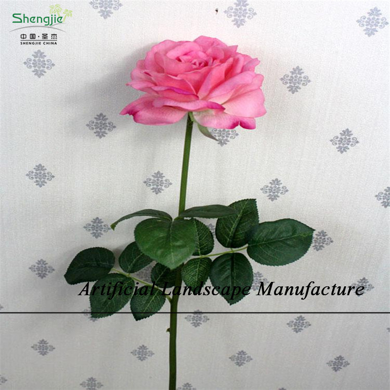 SJZR26 wholesale silk rose heads/high quality pink rose , artificial flower head decoration for wedding