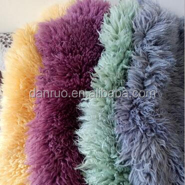 Factory direct sale of high-grade high quality Australian wool dyeing seat backrest lion MAO saddle photography props wool blank