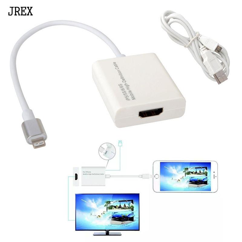 410188029d0 8 pin Cable HDMI para Apple Lightning A Adaptador de Cable HDMI para Iphone  6 Iphone 6 5S SE 6 s 6 más 7 6 s más ipad 1080 P HDTV TV adaptador de  conector ...