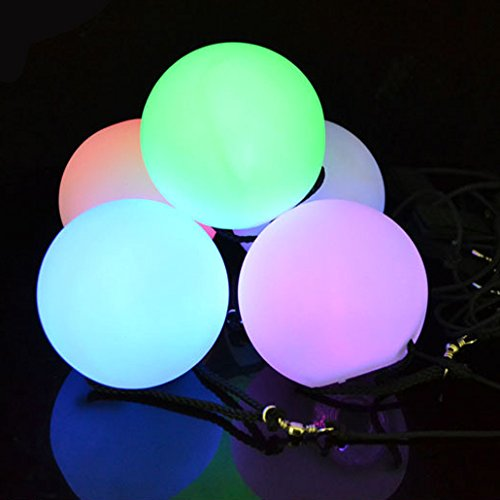 Illuminet ILLUMIBALL LED Glow Ball: LED POI Ball, POI Balls, LED Ball Light, Light Up Ball, Rave Light, Spinner Ball, Glow Ball, Stress Ball, Parties, Beach, Dances, Camping Fun