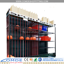 Ball cage supermarket ball rack display shelf for basketball football