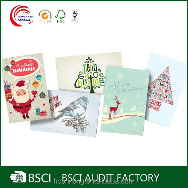 china christmas cards color print wholesale alibaba